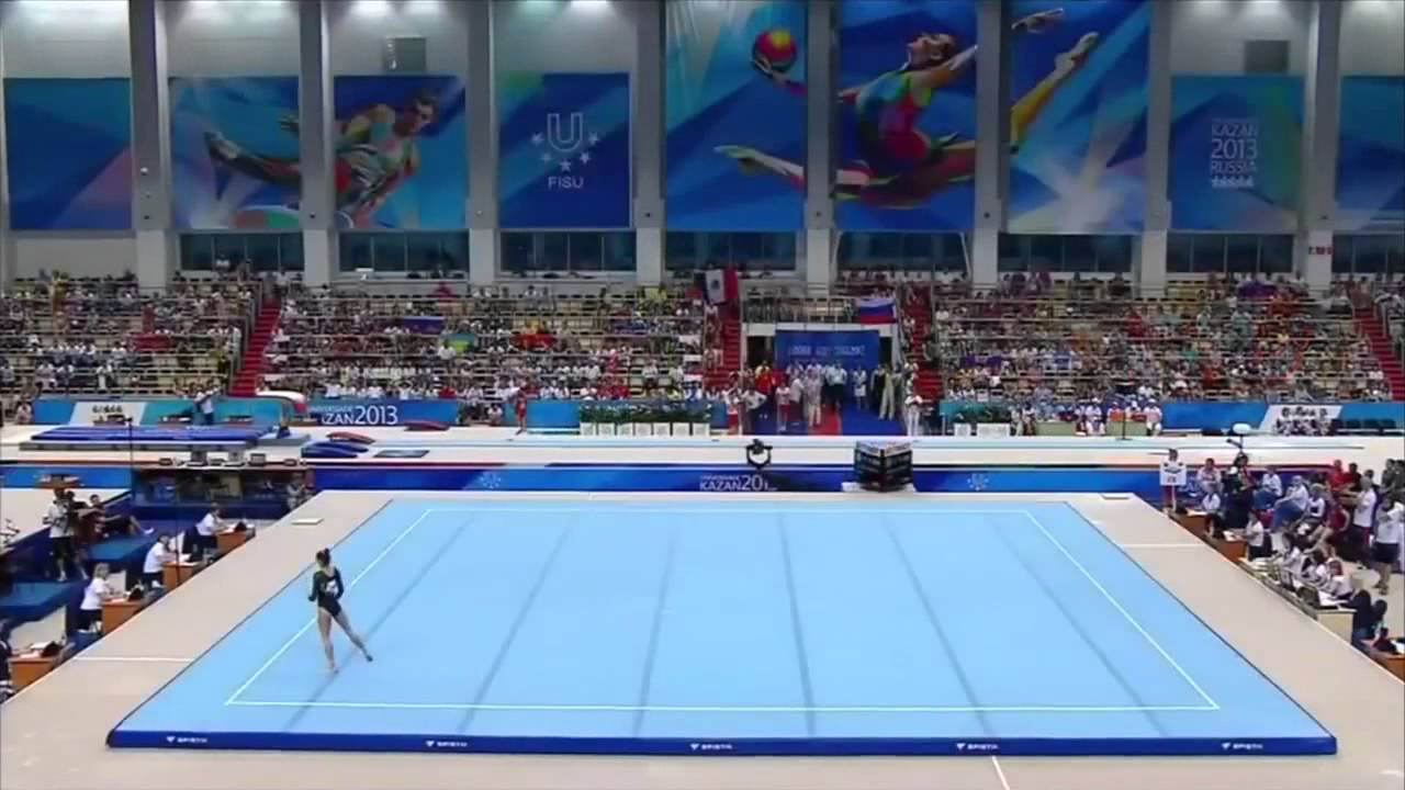 Kazan 2013 summer universiade women 39 s artistic for Floor gymnastics