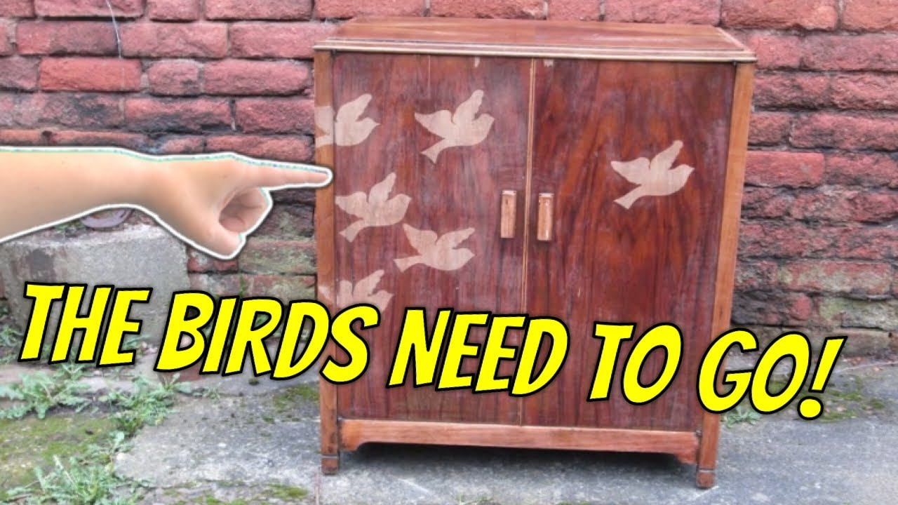 Stripping varnish from veneered wood furniture  YouTube