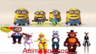 Minions vs Animatronicos cantando banana song, ustedes deciden