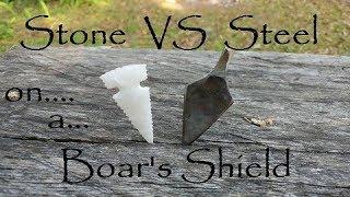 Stone Vs Steel Broadhead Penetration test for Primitive Archery