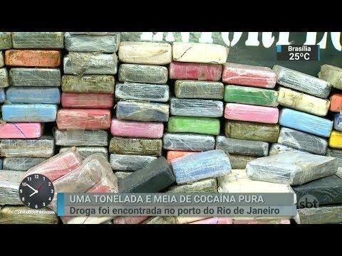 RJ: polícia encontra uma tonelada e meia de cocaína em contêineres | SBT Brasil (02/03/18)