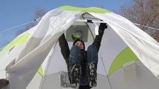 КРАШ-тест палатки ЛОТОС 5(Производитель не рекомендует проводить такие испытания! Палатка http://lotostent.ru/products/winter_tents/lotos-5-heat-valve/ Купить..., 2014-01-27T15:54:26.000Z)