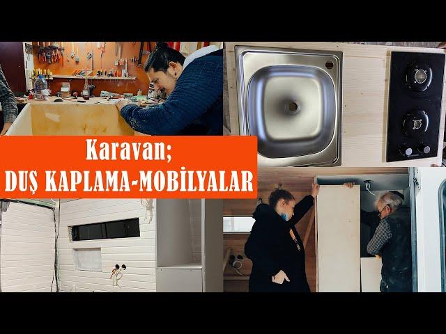 KARAVAN YAPIMI #11 | KARAVAN BANYO YAPIMI - BANYO KAPLAMA - DUŞ KABİNİ - MOBİLYA