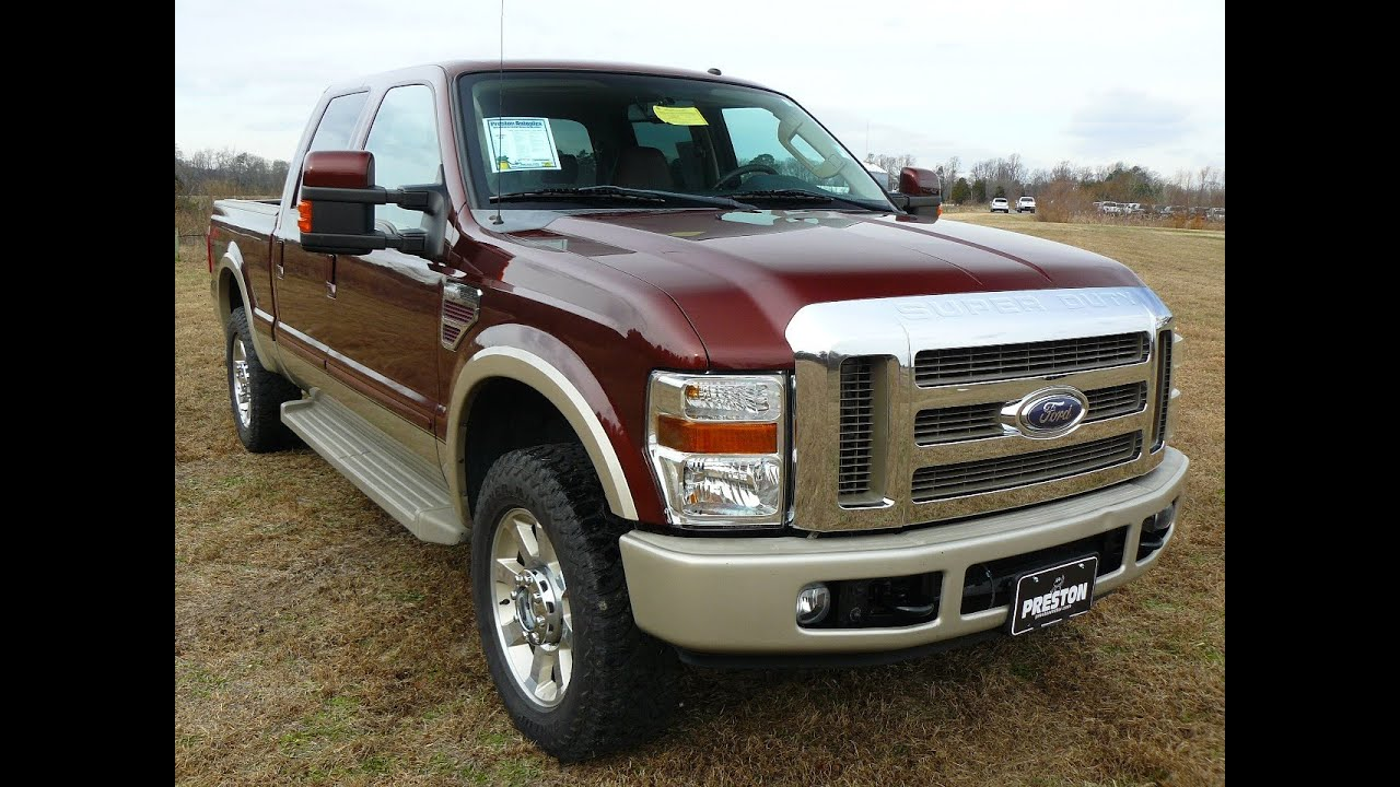 2008 ford f250 king ranch diesel v8 crew cab truck for sale maryland ford dealer b7078 youtube