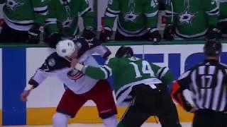 Jamie Benn fights Josh Anderson