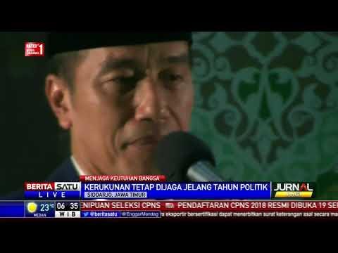 Jokowi Kunjungi Pesantren Bumi Sholawat Sidoarjo Jawa Timur