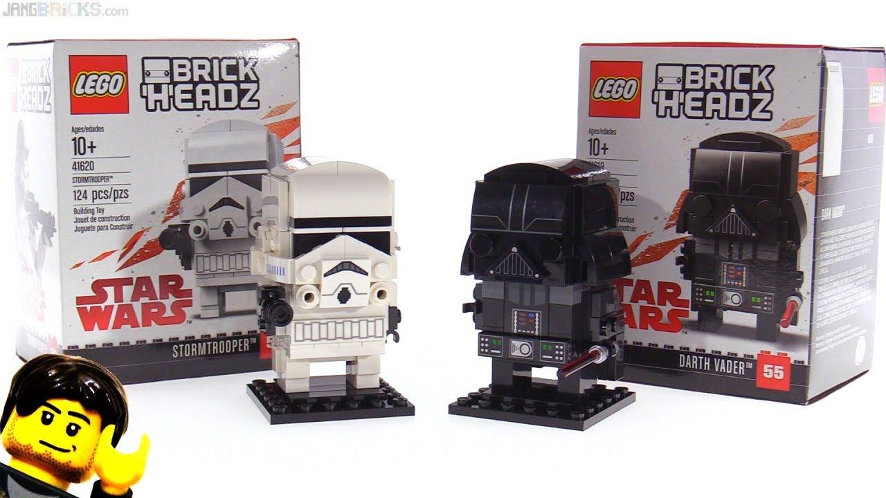 Lego Star Wars Stormtrooper Darth Vader Brickheadz Reviewed Youtube