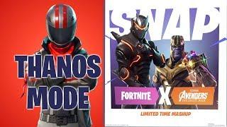 *INFINITY WAR MODE* New Fortnite Thanos Power (PS4 Pro) Fortnite Gameplay