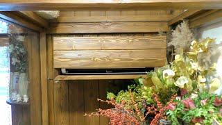 холодильник из кондиционера!  в цветочном магазине!