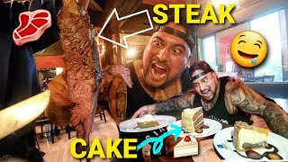 ALL YOU CAN EAT STEAK AND DESSERT - AWESOME TRIP TO DALLAS TEXAS