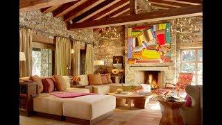 Stone Wall Living Room Stone Wall Ideas p1