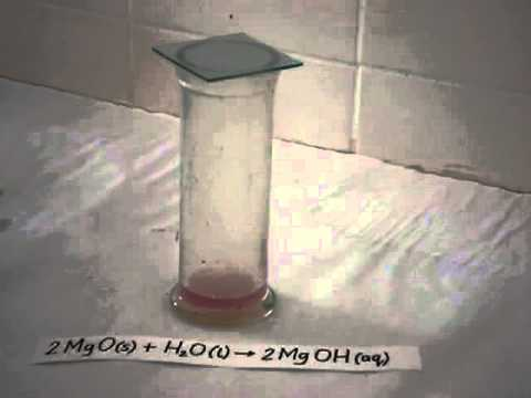 Formation Of Magnesium Hydroxide