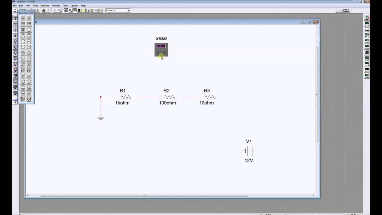 Simulate A Series Circuit In Multisim Youtube Uses Of