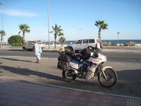 [Slow TV] Motorcycle Ride - Morocco - Western Sahara - Dakhla to Aoussert