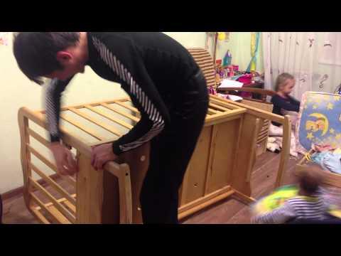 Как уменьшить высоту детской кроватки