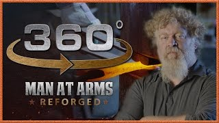 Tour of Man At Arms: Reforged Shop in 360° - The Forging Room!