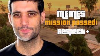 MISSÃO CUMPRIDA, melhores memes com GTA San Andreas, consegui rir?