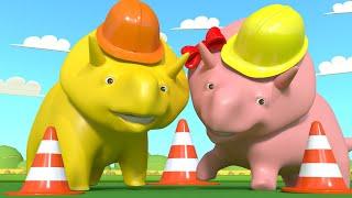 Lerne mit Dino - Lerne Sicherheitsregeln für den öffentlichen Raum bei einem Sicherheitsspiel
