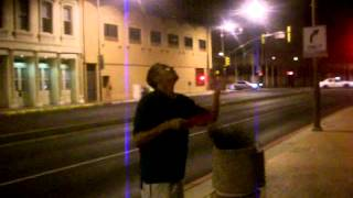 Jon McLane juggles frisbies.