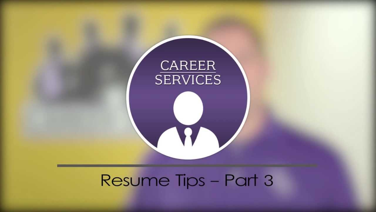 Resume Tips Part 3 Resume Title Objective Or Summary Youtube