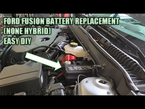 Ford Fusion Battery Replacement And How To Jump Start Youtube