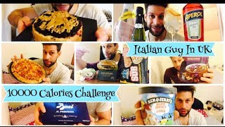 10000 Calorie Challenge - Italiano Cheat Day Man Vs Food (ENG SUB)