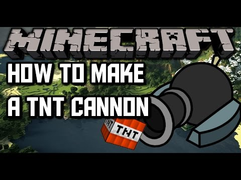 how to build a tnt cannon on minecraft pe