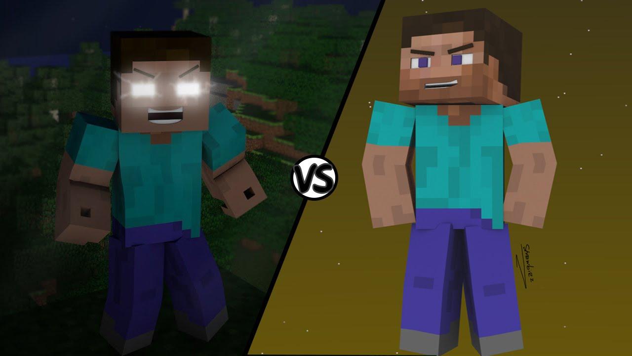 Steve VS Herobrine   Batallas picas - YouTube