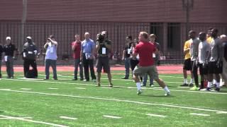 USC Pro Day: Barkley throwing
