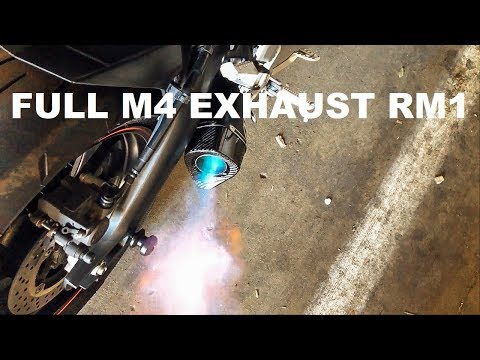 FULL M4 EXHAUST RM1 - YAMAHA FZ09 INSTALL + SOUND!