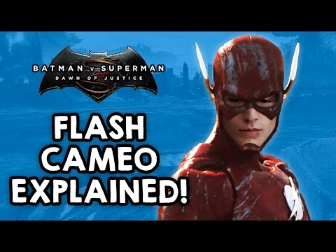 Flash cameo EXPLAINED! Batman v. Superman: Dawn of Justice