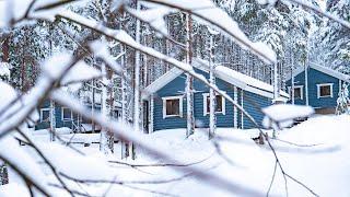 Отдых в Карелии. Коттеджный комплекс ВелТ зимой