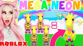 Making My First *MEGA NEON PET* IN ADOPT ME! Roblox Adopt Me Mega Neon Update
