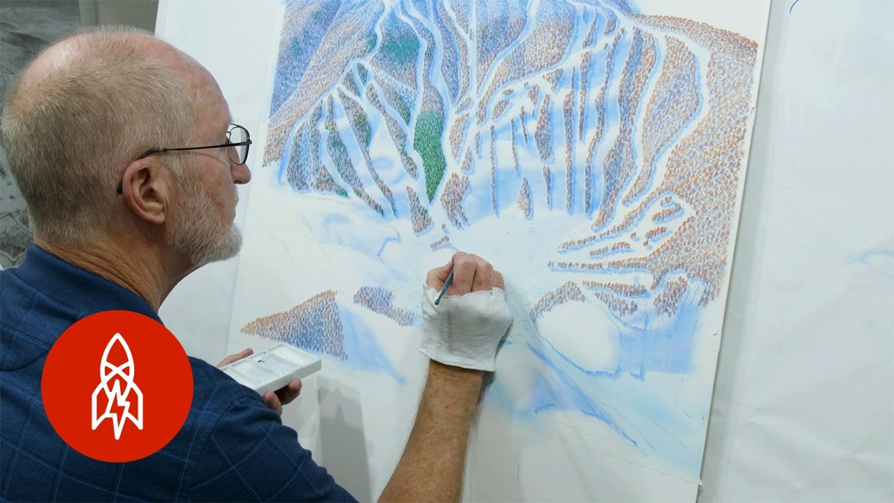 Sketching The Slopes The Artist Behind Ski Trail Maps Youtube