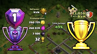 Town Hall 12 Trophy/Legend Base 2018 with Replays | BEST Th12 Trophy Base for Legend League