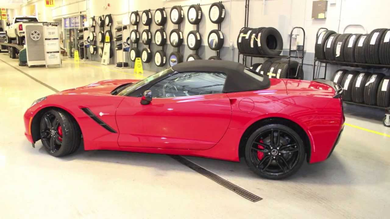 2014 red convertible c7 corvette stingray with z51 package for sale bill stasek chevrolet youtube