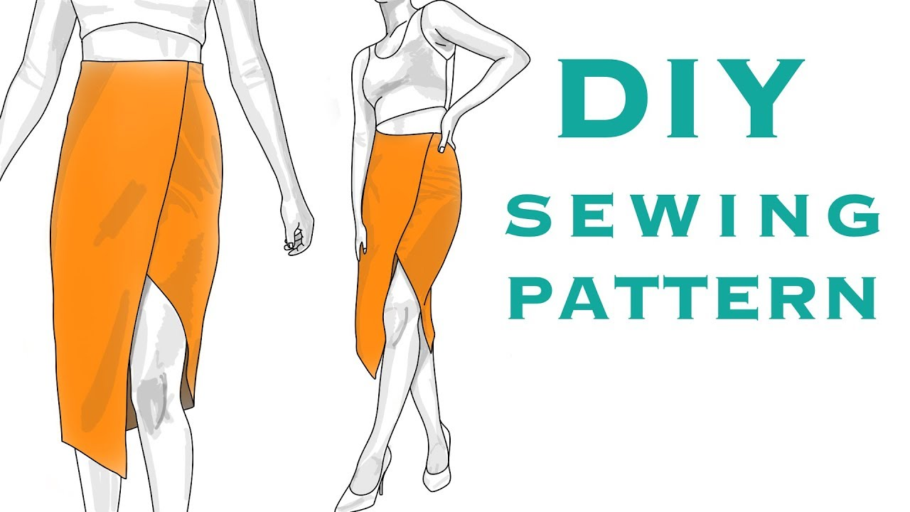 Design a Tulip Skirt Sewing Pattern from a Block Pattern - YouTube