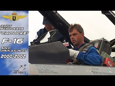 "F-16 2000-2002 Rudy ""Choucke"" Schoukens Belgian Air Force F16 Solo Display Pilot 2000-2002"
