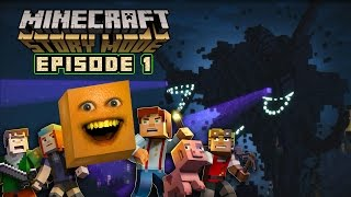 Annoying Orange - MINECRAFT STORY MODE: Episode 1 Complete!(NEWEST VIDEO: http://bit.ly/30MinsAO ➤ AO GAMING CHANNEL! ▸ http://bit.ly/AOGaming ➤ Don't be an apple! Subscribe! It's FREE! ▸ http://bit.ly/AOSub ..., 2016-01-18T20:00:01.000Z)