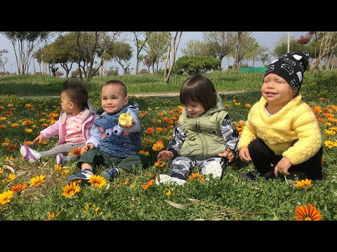 Русско-турецкие дети, розовые фламинго, цветочные поляны-наши весёлые прогулки! Измир! Турция!