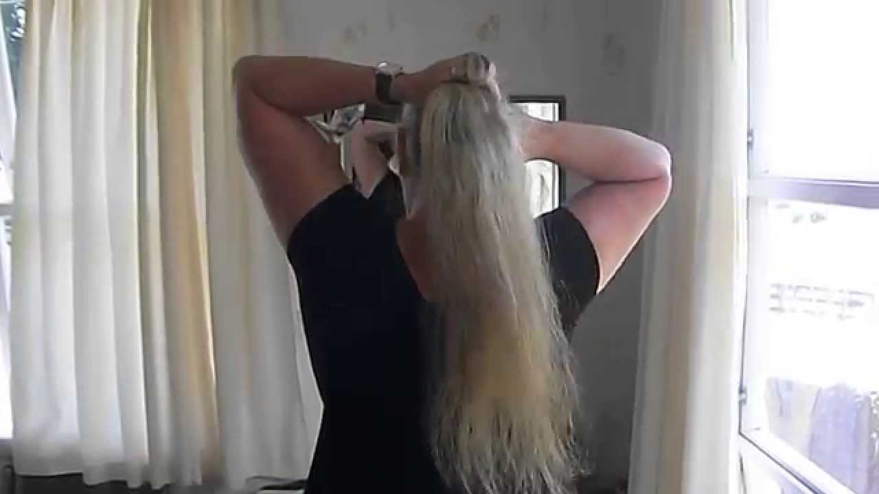 Ponytail without hair band - How To Make A Ponytail Without An Elastic The Lazy Wrap Ponytail Bun