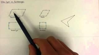 7 - Geometri - Olika typer av fyrhörningar