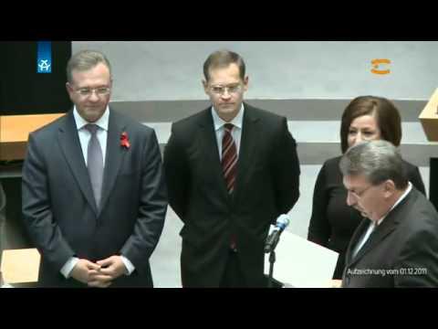 Vereidigung des Berliner Senats 1. Dezember 2011