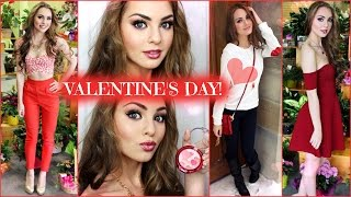 Valentine's Day Makeup & Outfit Ideas, Casual or Dressy! | Jackie Wyers