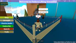 ROBLOX Fedora Lifting Simulator Fight Zer VS Steel (WHO WINS?!)