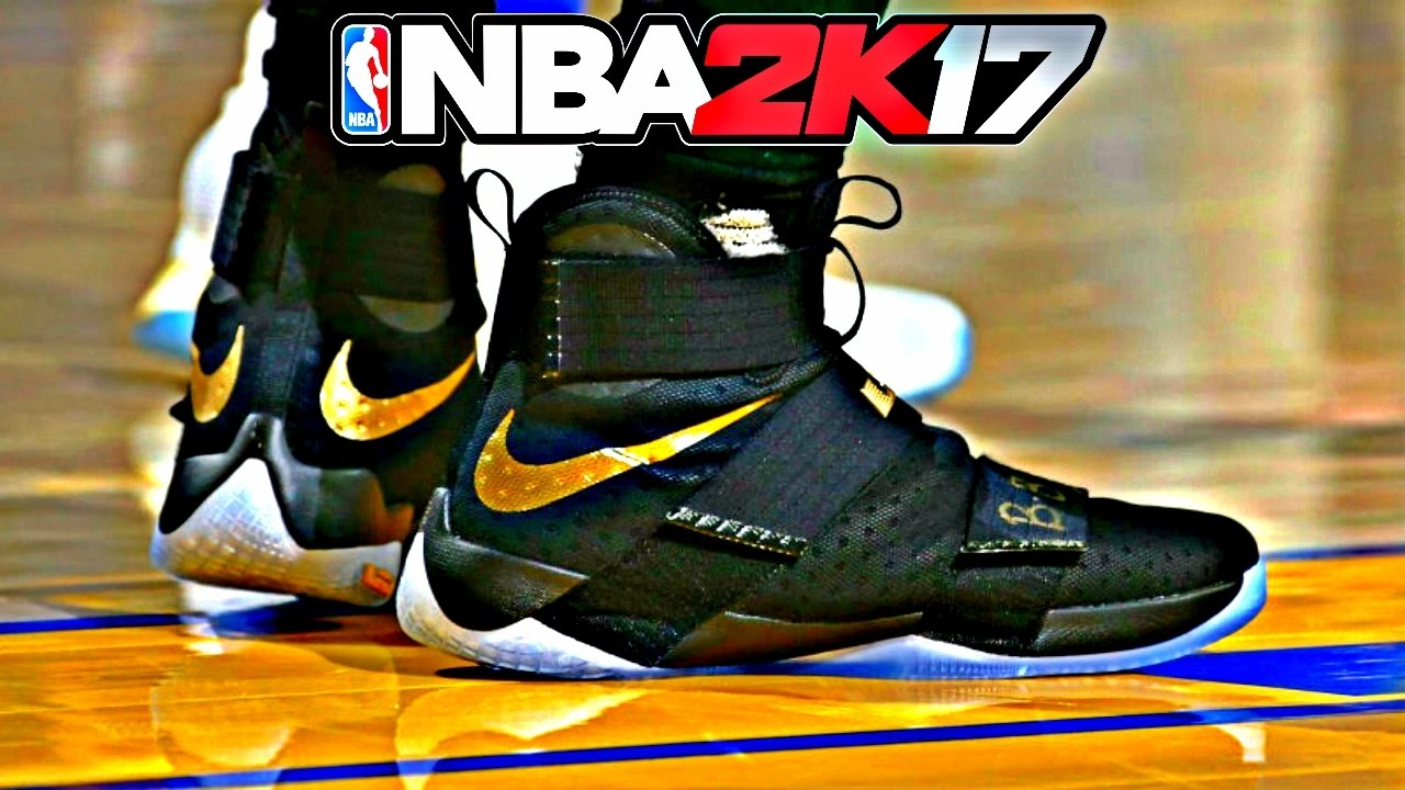 wholesale dealer 2ed49 bca84 NBA 2K17 Shoe Creator Nike LeBron Soldier 10