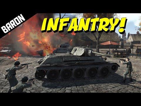 WAR THUNDER INFANTRY vs Tanks - War Thunder Gameplay