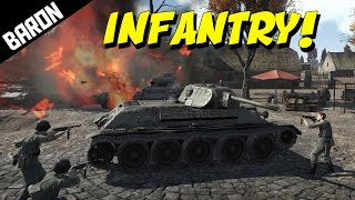 WAR THUNDER INFANTRY vs Tanks - War Thunder Gameplay