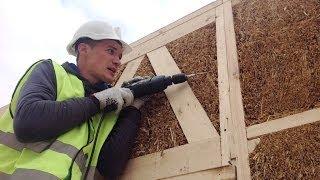 Экодом из соломенных панелей в деревянном каркасе(Хотите такой же дом? Заходите на сайт: http://eco-bud.com/ или звоните нам по номеру +38 (067) 383-1885 Дом строится из соло..., 2013-10-17T15:13:48.000Z)