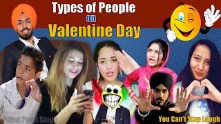 Types of People on Valentine Day   Punjabi Funny Videos Ever  Girlfriend Boyfriend  PahulPreet Singh